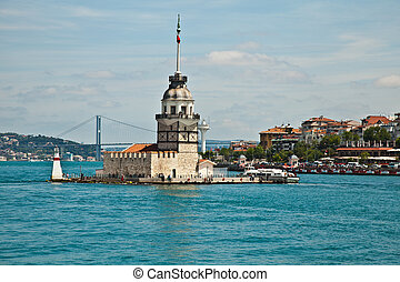 maiden tower at istanbul