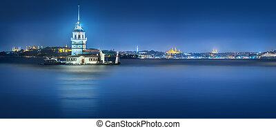 Maiden Tower in Bosphorus strait Istanbul, Turkey - Maiden...