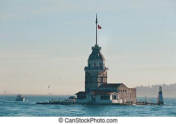 Maiden tower ( Kiz Kulesi) in Istanbul