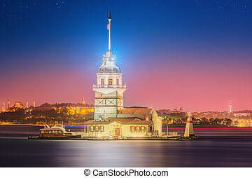 Maiden Tower or Kiz Kulesi Istanbul, Turkey