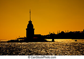Maiden\'s Tower at istanbul turkey