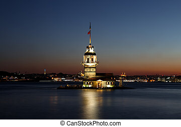 Maidens Tower in Istanbul, Turkey - Maidens Tower in...