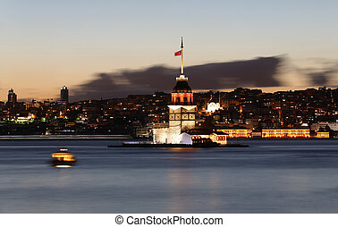 Maidens Tower in Istanbul, Turkey