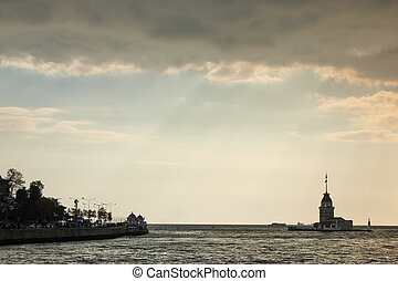 Maiden's Tower in Istanbul, Turkey - view of Maiden's tower...