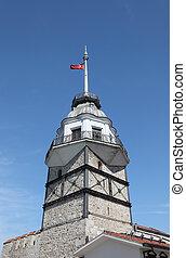 Maiden`s Tower (Kiz Kulesi) in Istanbul, Turkey