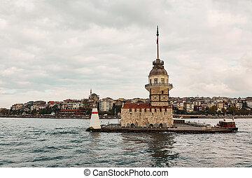 Maiden's Tower, Kiz Kulesi in istanbul,Turkey - Maiden...