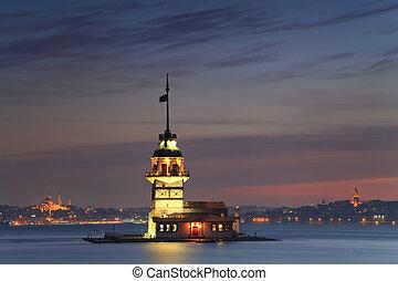Maiden's Tower (Kiz Kulesi). Istanbul, Turkey