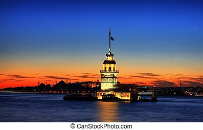 Maidens Tower - Maidens tower in Istanbul, Turkey