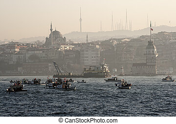 Maiden's tower of Istanbul - An image of Maiden's tower with...
