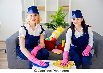 Maids of cleaning service