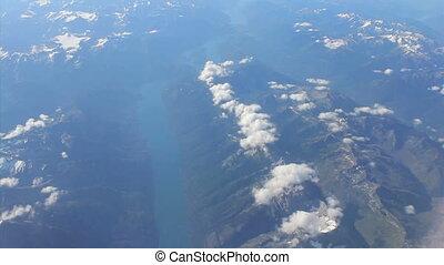 maigre, aérien, lac, vue