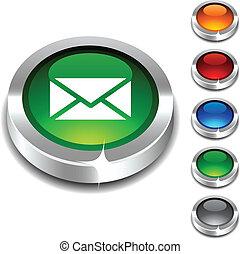 mail 3d button.