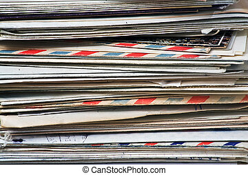 Mail - A bulk of old  letters and junk mail