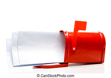 Mail - An assortment of letters in a mailbox.