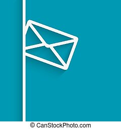 mail blue background