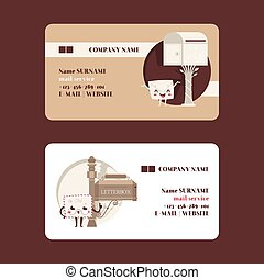 Mail box envelope vector business card post mailbox postal ...