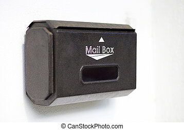 mail box on white background