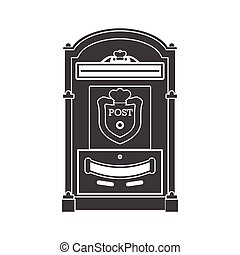 Mail Box Post Outline Icon