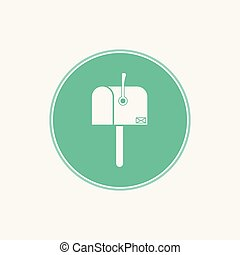 mail box vector icon sign symbol