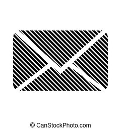 Mail button on white.