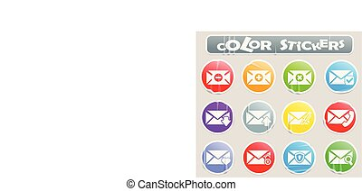 Mail color stickers
