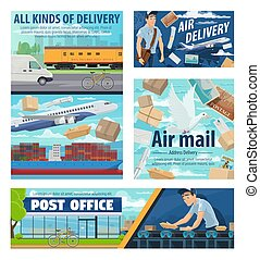 Mail delivery service, post office parcels