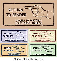 Mail Delivery Stamp - Mail delivery stamp - return to sender