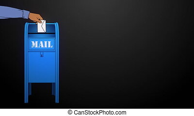 This Post Mail animation was hand drawn in Photoshop and animated in Adobe After Effects.