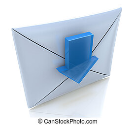 Mail Envelope and blue arrow