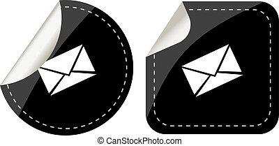 mail envelope black stickers label tag set