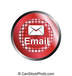 Mail Envelope icon button vector