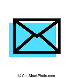 Mail envelope icon isolated on white background.