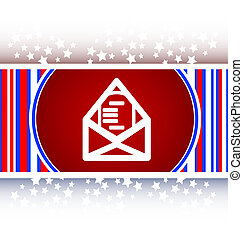 mail envelope icon web button