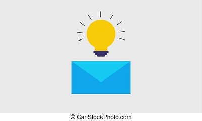 mail envelope icons - mail envelope with lightbulb idea...