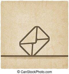 Mail envelope symbol old background
