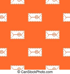 Mail envelope with a stamp pattern seamless