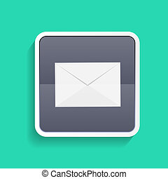 Mail Flat Concept Vector Illustration