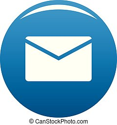 Mail icon blue vector
