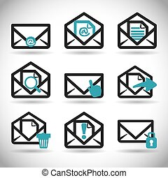 mail icon design vector illustration eps10 graphic