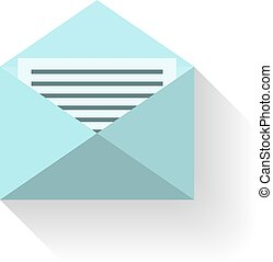 Mail icon flat design vector.