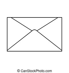 Mail icon in outline style vector illustration for design and web isolated