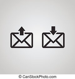 Mail icon, inbox outbox
