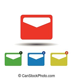 Mail icon. isolated on white background