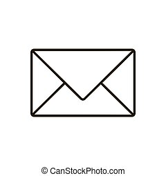 Mail icon isolated on white background. Vector illustration
