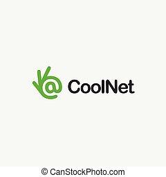 Mail icon. Ok symbol, Okay vector logo, mailbox, network.