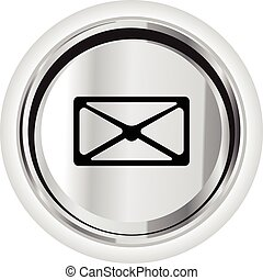 mail icon on a button illustration symbol sign