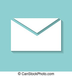 mail icon on the background , vector