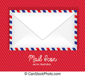 mail icon over lineall background vector illustration