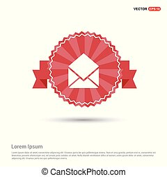 Mail Icon - Red Ribbon banner