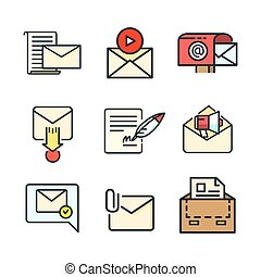 mail icon set color